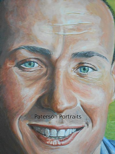 portrait detail painting by artist david paterson