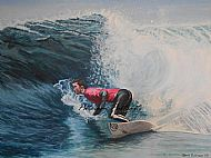 surfer painting by david paterson