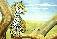 jaguar painting by david paterson