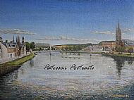 river ness oil on canvas painting by david paterson