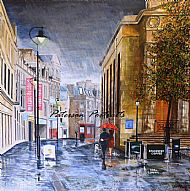 oil on canvas painting of elgin high street by david paterson