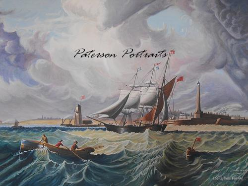 tall ship painting by david paterson
