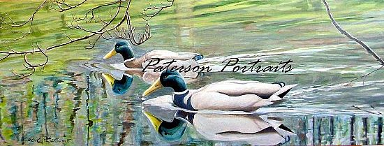 brodie ducks oil painting by david paterson