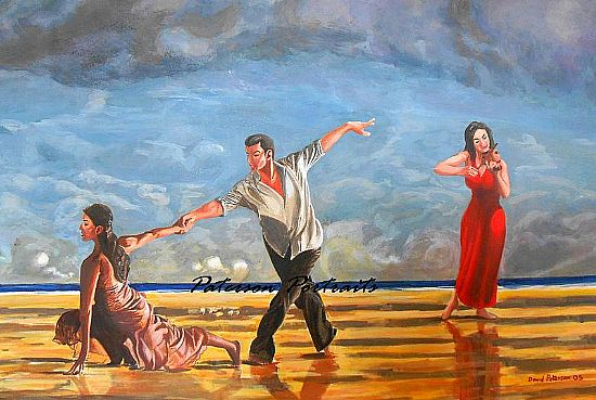 beach ballet painting by david paterson