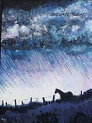 horse in a storm
