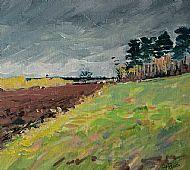 Slipton landscape, Northants, March morning