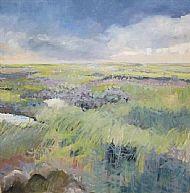 So quiet over the sea lavender marsh Stiffkey