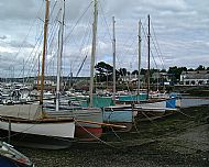 Oyster boats laid up ashore