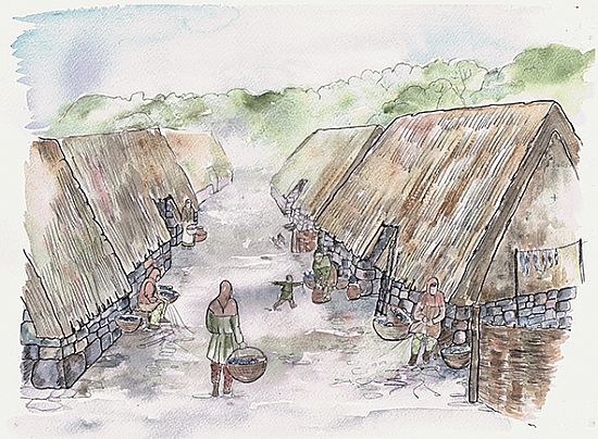 artist's impression at the end of the 2013 dig