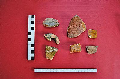 medieval potter sherd - 2013