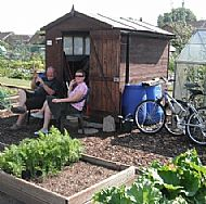 ..........and with Wendy at the Shed