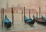 Venice Gondolas. Pastels
