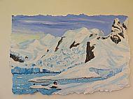 December: Paradise bay, Antartica,  Acrylic