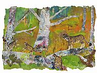 March: Wild cats, collage