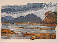 August: Isle Ornsay, acrylic