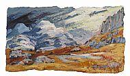 Greetings Card - Lochan in the Limestone Hills
