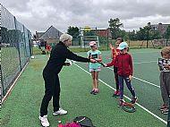 Coach Anne Erskine form Inverness Tennis & Squash Club