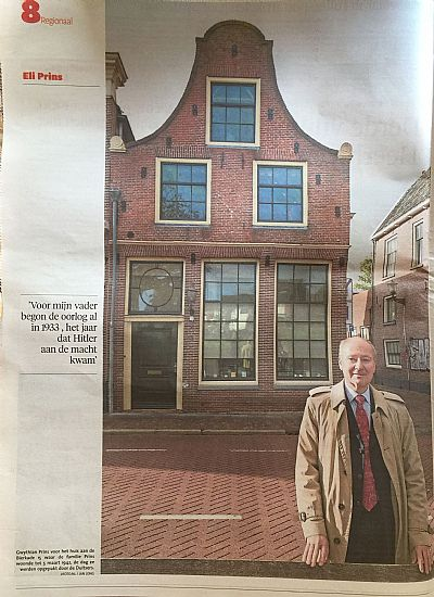 gwythian prins in front of his family home in alkmaar