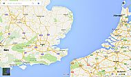 Map showing locations of Bath & Alkmaar