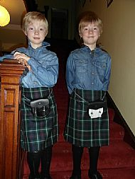 Handsom boys in their kilts