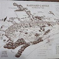 Contemporary map of Barnard Castle