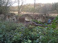 Remains of dwellings at Derwentcote