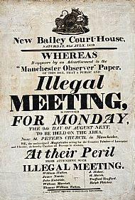 Peterloo Warning Poster
