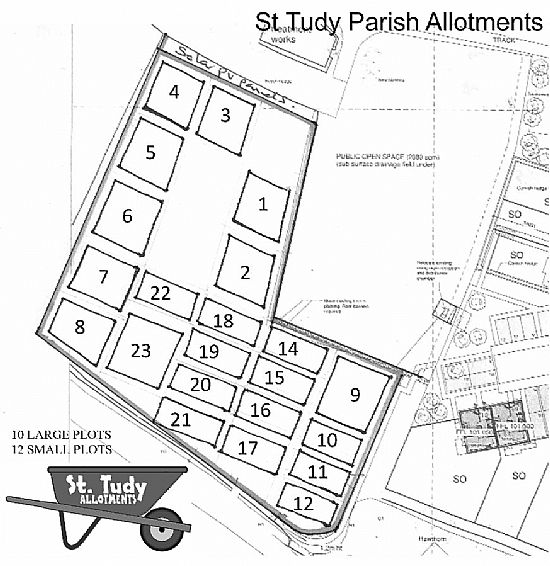 numbered plots for st tudy allotments