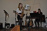 Hannah Hunter on saxophone