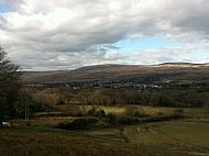 view of cwmllynfell from rhiwfawr