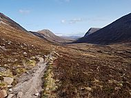 Lairig ghru looking North to South