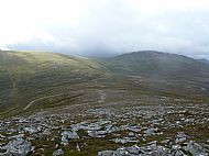 Beinn Udlamain far right distance from Geal-Charn