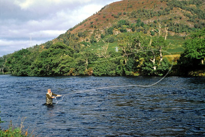 salmon fishing on the river conon, upper fairburn