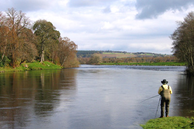 salmon fishing on the river conon, brahan fishings