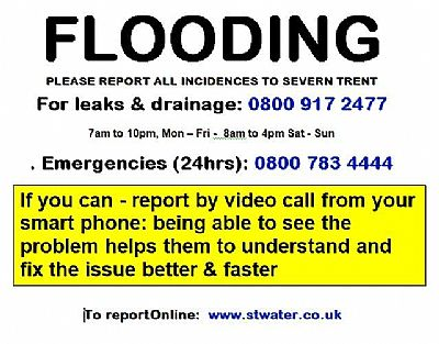 flooding advice contacts