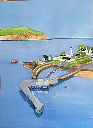 Painting for harbour Poster