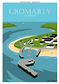 Cromarty Harbour poster 1/2 in a tube
