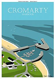 Cromarty Harbour poster 2/2 in a tube