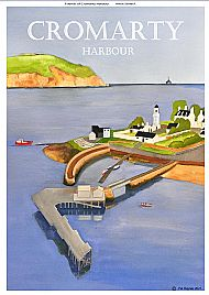 Cromarty Harbour poster 3 in a tube