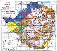 painted dog conservation map