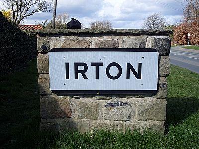 irton village gateway stone