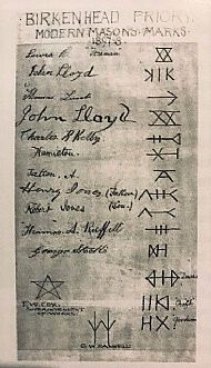 Birkenhead Priory marks