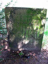 Thomas Meakin's Grave, St Lawrence's Rushton Spencer