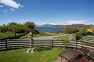 The private garden with views to Loch Eishort and Blaven
