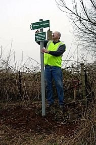 Erecting Footpath Signs