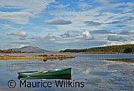 Dinghy on Loch Peallach, Mull