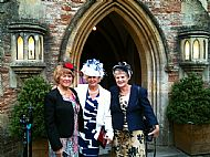 3 of my Headdresses at Wells Cathedral