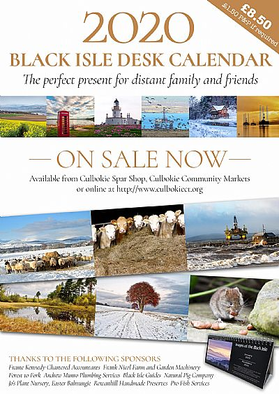 black isle desk calendar flier