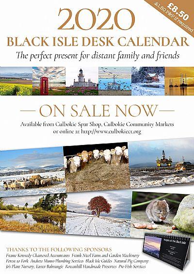 black isle desk calendar flier