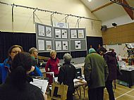 February 2016 - the History Group publicity table showing the metal detecting finds.